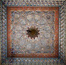 Ornately painted ceiling, Bukhara, Uzbekistan