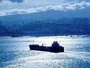 Tanker in the port of Las Palmas, Gran Canaria, Spain