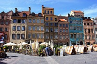 Old Town Market Square in Warsaw, Poland