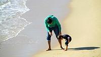 At the beach. Sant Andreu de Llavaneres, Barcelona, Catalonia, Spain, Europe.