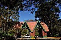Roadway entry portal to the town of Canela, Rio Grande do Sul, Brazil.