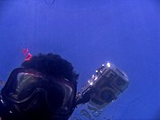 Who sees who : Self portrait of the photographer, while he is diving for takes photos in Saint Martin Saint Martin is the only coral island of Banglad...