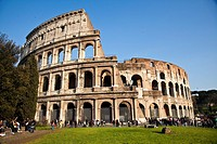 Italy, Rome, view of Coliseum