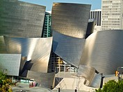 Walt Disney Concert Hall. Disney Hall was designed by architect Frank Gehry. Los Angeles, California