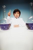 Boy Scientist in Laboratory