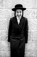 Orthodox Jewish Boy by the Western Wall, Old City of Jerusalem, Israel