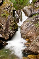 A waterfall is in the Ural mountains 1