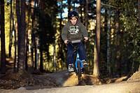 A boy on a BMX bicycle, Sweden.