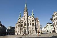 Town, hall, Liberec, Liberec, Area, Czech, Republic, architect, Franz, von, Neumann,