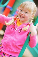 a girl at the playground, troutdale, oregon, united states of america
