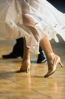 A couple at ballroom dancing, Germany, Europe