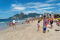 People, beach, City, Ipanema, Rio de Janeiro, Brazil