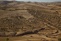 Aerial view of the North Negev Terraces.