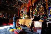 China, Shanxi province, buddhist golden palace temple