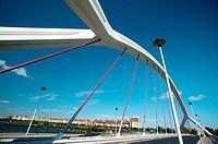 Puente de la Barqueta ´bridge of la Barqueta´  City of Sevilla  Andalucia  Spain