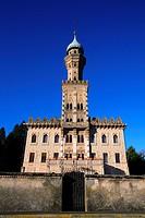 Italy, Lake Orta, Villa Crespi  Villa Crespi is a 19th-century folly, built by Cristoforo Benigno Crespi, a successful and somewhat eccentric cotton t...