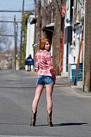 Young Woman Posing in Casual Clothes