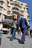 Mila House (aka La Pedrera) by Gaudi, Barcelona, Catalonia, Spain.