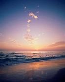 Sunset over the ocean, Panama City Beach, Florida, USA