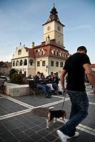Town Hall Square of Brasov  Brasov, Transylvania, Romania, Europe