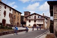 Cyclysts by Basaburua  Navarra  Spain