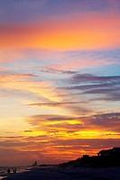 Gulf of Mexico, Sunset on beach