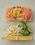 stir fried noodle with slice omlette  Pad mee, thai fast food , food court , bangkok
