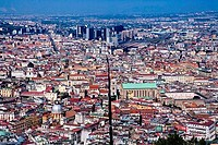 Aerial view of a cityscape, Naples, Naples Province, Campania, Italy