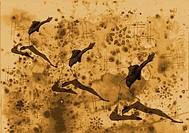 Three female dancers, illustration