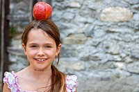 girl is eating fruits
