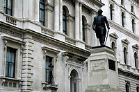 Statue of Robert Clive Clive of India on Clive Steps, King Charles Street, Whitehall, London, England