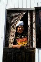 Tobago, Speyside, Jemma Restaurant, Jemma In Kitchen Window