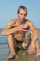 Man drinking the wine.