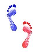 Two human footprints