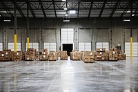 Boxes on Pallets in a Warehouse