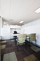Chairs and Desk in Office Cubicle