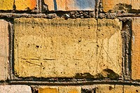Yellow bricks wall background