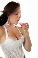 Sexy woman with cocktail