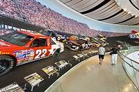 Interior of Nascar Hall of Fame in Charlotte North Carolina