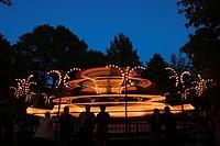 Bright, Light, Glow, Amusement Park
