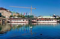 Hamburg, Germany, Alster Boats