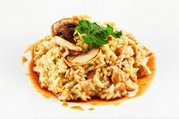 Elegance rice with mushrooms food