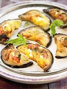 Eggplant,tomato and goat´s cheese Empanadas
