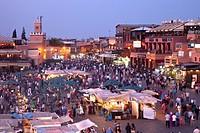 Djemaa al fna square, Marrakech, Morocco