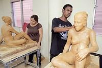 Dominican Republic, Santo Domingo, Ciudad Colonial, Calle Isabel La Catolica, Escuela Nacional de Artes Visuales, visual arts academy, Hispanic, Black...