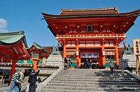 Kyoto (Japan): the entrance of the Fushimi Inari-taisha shrine
