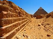 Kefren pyramid. Giza. Cairo. Egypt