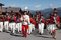 Austria, Salzburg, Lungau, People celebrating samson parade at katschberg