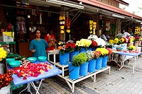 indian flower stall, penang, malaysia.