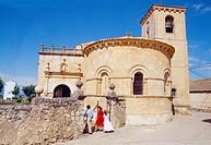 First Communion in the church. Cerezo de Arriba, Segovia province, Castilla León, Spain.